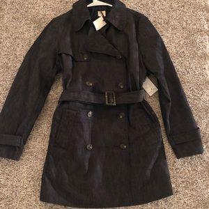 GAP denim trench coat size medium NWT